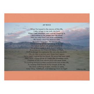"Inspirational Poem Art ""My Rock"""