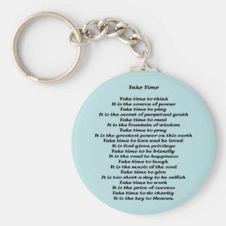 Inspirational Poem Basic Round Button Keychain