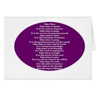 Inspirational Poem Card