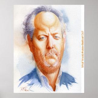 Inspirational portrait of Andrew Breitbart Poster