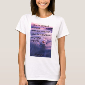 Inspirational positive beach theme quote T-Shirt