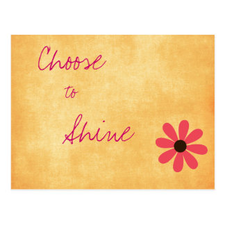 Inspirational Positive Message Postcard