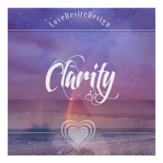 Inspirational Positive Vibes Series Clarity Poster
