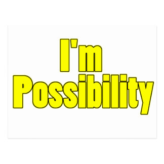 inspirational possibility postcard