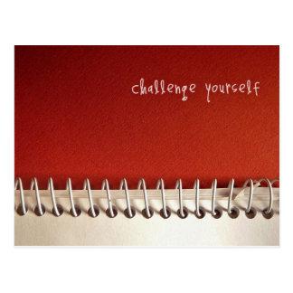 Inspirational Postcard: Challenge Yourself Postcard