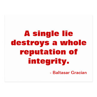 Inspirational Postcard - Integrity