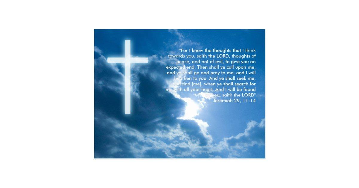 Inspirational Postcard Jeremiah 29 11 14 Zazzle
