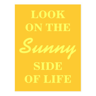 Inspirational Postcard - Look on the Sunny Side