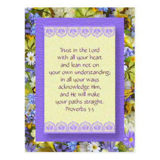 Inspirational Postcard - Trust in God -
