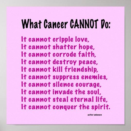 Inspirational Quotes Surgery: Inspirational Poster For Cancer Awareness