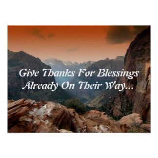 Inspirational Poster - Give Thanks