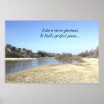 Inspirational Poster, Salinas River, God's peace