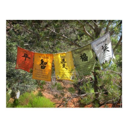 Inspirational Prayer Flags Postcards