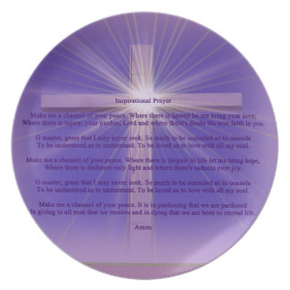 Inspirational Prayer quotes sign Plate