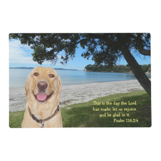 Inspirational Pretty Scene with Lab Placemat