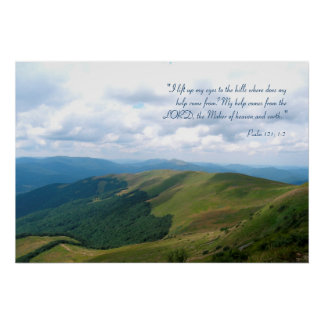 Inspirational | Psalm 121; 1-2 Poster