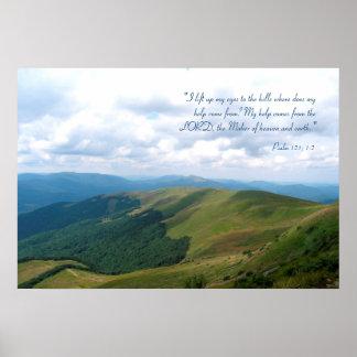 Inspirational | Psalm 121; 1-2 Poster