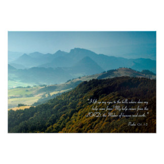 Inspirational | Psalm 121 Poster