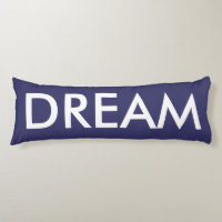 Inspirational Purple White Dream Body Pillow
