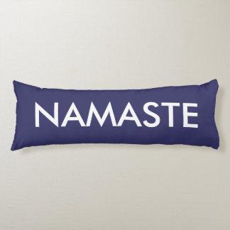 Inspirational Purple White Namaste Body Pillow