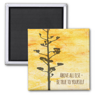 Inspirational Quote 2 Inch Square Magnet
