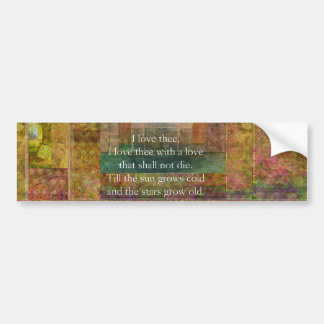 Inspirational quote about love by Shakespeare Bumper Sticker