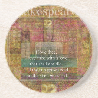 Inspirational quote about love by Shakespeare Drink Coaster
