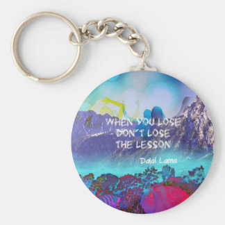Inspirational quote about wisdom basic round button keychain