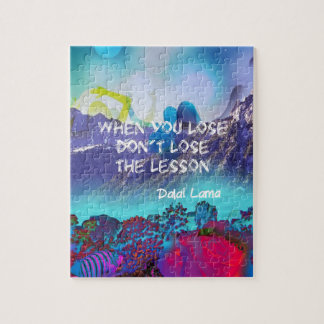 Inspirational quote about wisdom jigsaw puzzle