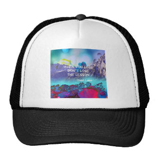 Inspirational quote about wisdom trucker hat