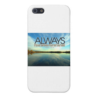 Inspirational Quote -- Abraham Lincoln iPhone SE/5/5s Cover