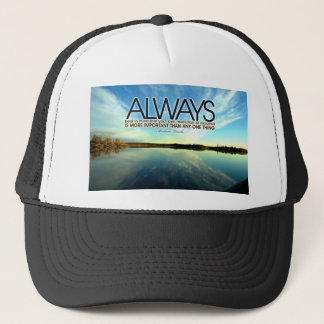 Inspirational Quote -- Abraham Lincoln Trucker Hat