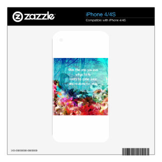 Inspirational quote among corals iPhone 4 skins