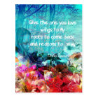Inspirational quote among corals postcard