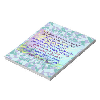Inspirational Quote Art Notepad 2
