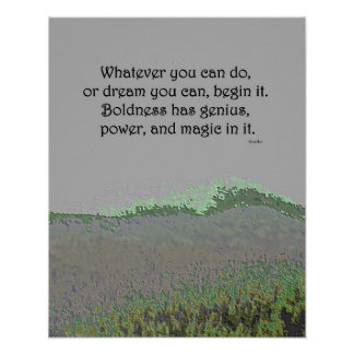 Inspirational quote Begin Poster