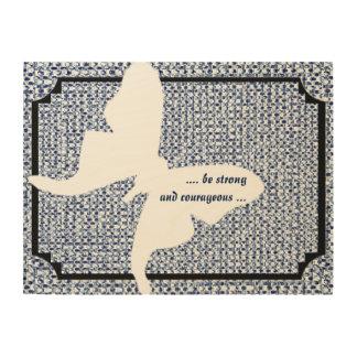 quote blue itajime shibori luna moth wood wall art