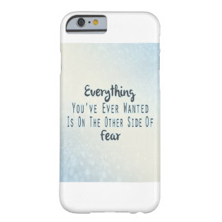 Inspirational Quote, Blue Typography About Desire Barely There iPhone 6 Case