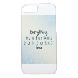 Inspirational Quote, Blue Typography About Desire iPhone 7 Case