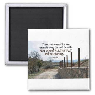 Inspirational Quote -- Buddha 2 Inch Square Magnet