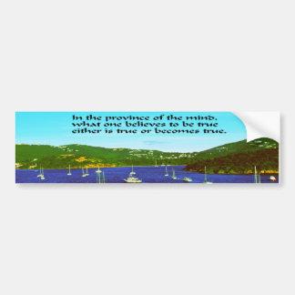 Inspirational quote bumper sticker