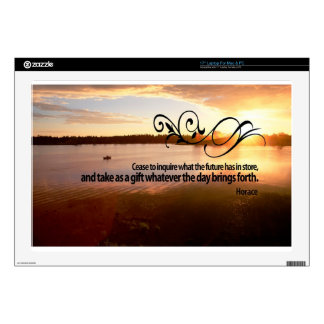 """Inspirational Quote by Ancient Rome Poet -- Horace 17"""" Laptop Decal"""