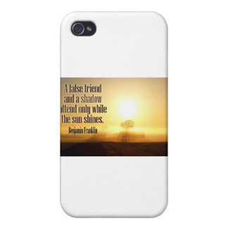Inspirational Quote by Benjamin Franklin Case For iPhone 4