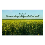 Inspirational Quote by Eleanor Roosevelt Poster