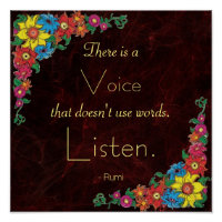 Inspirational Quote by Rumi   Poster