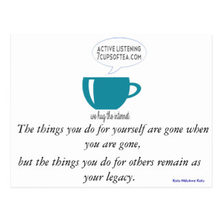 Inspirational Quote Card | 7 Cups Of Tea (#2)