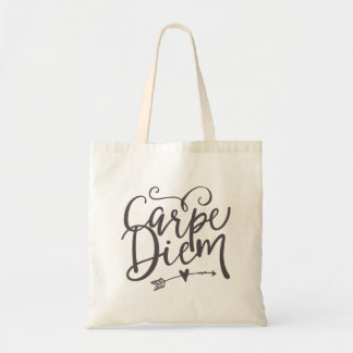 Inspirational Quote Carpe Diem Sieze The Day Tote Bag