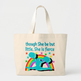 INSPIRATIONAL QUOTE CHEERLEADER DESIGN LARGE TOTE BAG