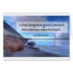 Inspirational Quote -- Confucius Card