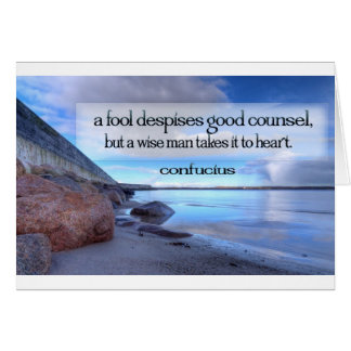 Inspirational Quote -- Confucius Card
